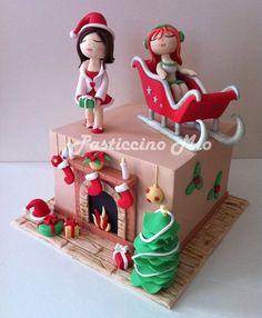 Christmas Cake  Cake by PasticcinoMio