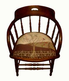 Applique & Patchwork Chair by Rustique Interiors