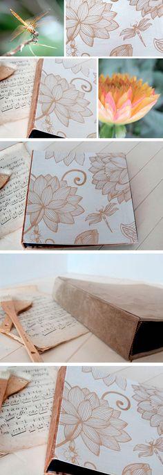 """""""Il corpo della libellula è esile, ma attraversa ballando la tempesta."""" (Detto Zen) #lizziemargherita #libellula #dragonfly #handmade #album #matrimonio"""