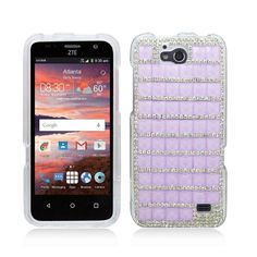 Amazon.com  ZTE Maven Z812 (AT T) - Rainbow Rhinestone Diamond Bling Cover  Case + Atom LED  Cell Phones   Accessories 88a718d9a531