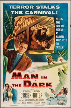 """Movie Posters:Thriller, Man in the Dark (Columbia, 1953). One Sheet (27"""" X 41"""") 2-D Style.Thriller.. ... Image #1"""