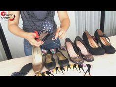 YouTube Diy Fashion, Womens Fashion, Fashion Design, Crochet Videos, Headband Hairstyles, Baby Shower Favors, Gladiator Sandals, Headbands, Stiletto Heels