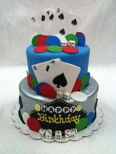 Vegas cake, perfect for a 21st or gambling friend!