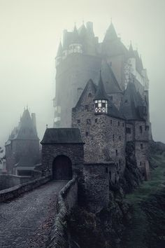 "Eltz Castle - Germany "" The Dark Stronghold by Kilian Schönberger "". I've never before seen a picture of it in fog but always in bright sunlight. This makes it look so much different."