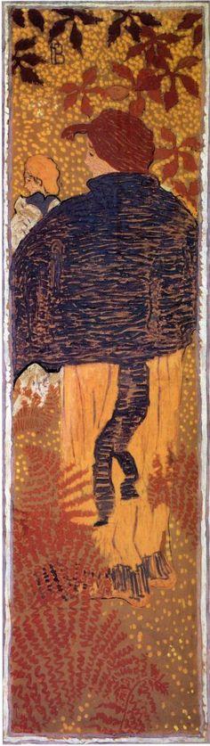 Woman in a Blue Pelerine, 1892-1898. Pierre Bonnard