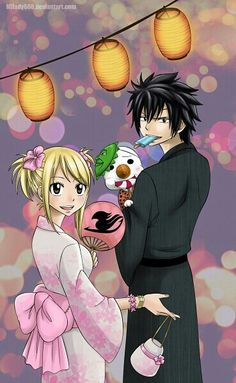Graylu || Gray Fullbuster x Lucy Heartfilia || Fairy Tail ... ( Don' t ship but cute ♡ )