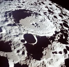 Craters on the far side of the moon. Some images have revealed the presence of lava that flowed on the moon millions of years ago