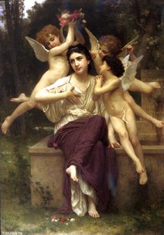 william+adolphe+bouguereau+oil+paintings+|+Dream+of+Spring
