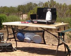 Bring mesh laundry bag to dry dishes while camping.