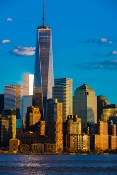 ONE WORLD TRADE CENTER..N.Y.C....BEAUTIFUL PICTURE OF THE WORLDS MOST BEAUTIFUL CITIES N.Y.C.