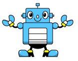 青い色のロボット