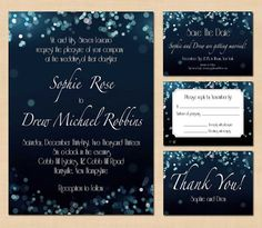Printable Wedding Package Save the Date by carriechelsea on Etsy, $35.00