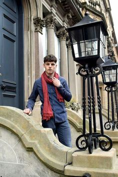 Mens Deep Red Scarf - Casual Elegance by Definite Glam Casual Elegance, Casual Chic, Scarves Uk, Men's Wardrobe, Long Scarf, Scarf Styles, Fashion Boutique, Baby Strollers, Luxury Fashion