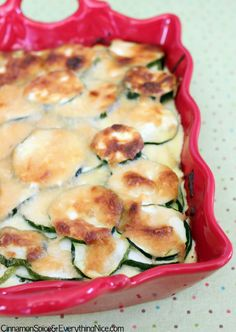 Baked Zucchini with Gouda; like the idea of this.  I will prob cut back on the calories though  or substitute some Greek yogurt for the creaminess.