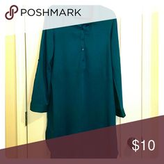 Shirt Dress Justfab Teal Shirt Dress JustFab Dresses Long Sleeve