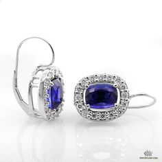 Baby Blues! Sweet #Sapphire and Diamond Earrings