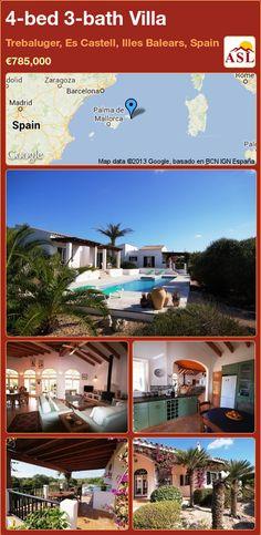 4-bed 3-bath Villa in Trebaluger, Es Castell, Illes Balears, Spain ►€785,000 #PropertyForSaleInSpain