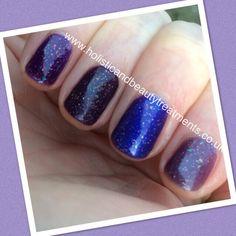 CND Shellac Nordic Lights over Grape Gum, Rock Royalty, Purple Purple & Vexed Violet. Gorgeous!  www.holisticandbeautytreatments.co.uk