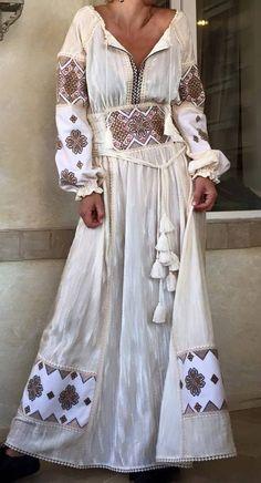Round Neck Ankle-Length Print Vintage A-Line Dress – Style Ethnic Fashion, Hijab Fashion, Boho Fashion, Fashion Dresses, Womens Fashion, Bohemian Mode, Bohemian Style, Boho Chic, Ethno Style