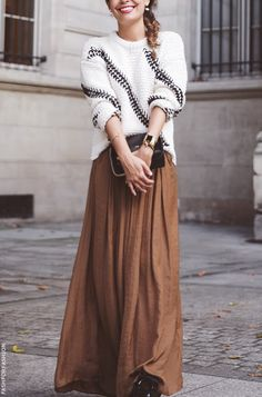 sweater with maxi