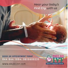 Hear your Baby's First Cry with US... Book an Appointment today! Call: +91 9810600235 | 844 844 1094 Email us - newquery@delhi-ivf.com Website - www.delhi-ivf.com | www.dranoopgupta.com #delhiivf #babyfirstcry #baby #ivfbaby #healthybaby #ivftreatment #gynaeproblem #gynaecologicalhealth #healthissues #ivfdelhi #infertilitytreatment #bestivfclinic #successfulivf #oldestivf #ivfdelhi #bestivfclinic #leadingIVF #hope #positiveresult #IVFcases #25years #ivfdelhi #ivfclinic Art Fertility, Fertility Center, Ivf Treatment, Infertility Treatment, Types Of Infertility, Ivf Clinic, Research Centre, Appointments, Crying