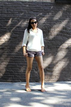 Style Wire: What I Wore: Shorts & Sunnies   Perfect summer look late/fall casual day outfit!