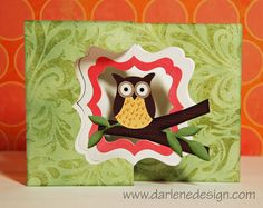Owl Flip Card -front