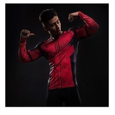 Deadpool Printed T-shirts Men Cosplay Costume Display Long Sleeve Compression Shirt Male Tops Halloween Costumes Cosplay Costume, Male Cosplay, Deadpool Vs Thanos, Gym Shirts, Workout Shirts, Fitness Shirts, Marvel C, Crossfit Clothes, Gym Clothing