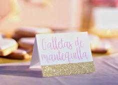 Nice Box rosa y dorado Nice Party cartelitos