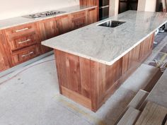 New kitchen and bench - recycled rimu