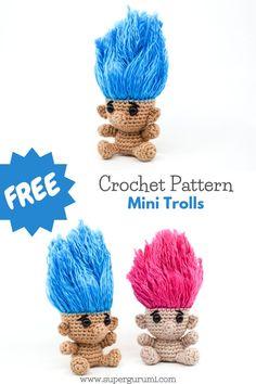 Kawaii Crochet, Cute Crochet, Crochet Crafts, Crochet Projects, Crochet Amigurumi Free Patterns, Crochet Dolls, Crochet Stitches, Single Crochet Stitch, Key Chain