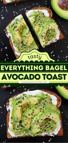 Looking for an easy and healthy breakfast idea? This Everything Bagel Avocado Toast is what you need to start your day right! Combined with cream cheese and Everything Bagel seasoning, this avocado toast recipe is the best! Healthy Oatmeal Recipes, Delicious Breakfast Recipes, Simple Avocado Toast, Breakfast Casserole Easy, Everything Bagel, Recipe Of The Day, Tasty, Breakfast Ideas, Cheese