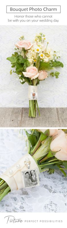 Here's a great way to honor grandparents, parents or anyone else dear to your heart who cannot be with you on your wedding day. It will be like they are walking down the aisle with you!