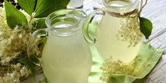Elderflower, Kaja, Milkshake, Mason Jars, Smoothies, Mint, Drinks, Tableware, Sweet