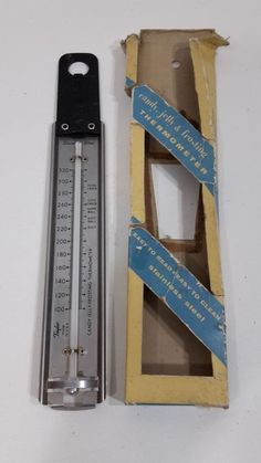 Vintage Taylor Stainless Steel USA Candy Thermometer Jelly Frosting BAKELITE #Taylor