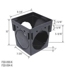 StormDrain Square Black Catch Basin Drain Box Kit with Grate and Debris Trap Filter – Catch Basins – Landscape & Drainage Backyard Drainage, Landscape Drainage, Backyard Landscaping, Catch Basin Drain, Yard Grading, Diy Wood Counters, Sump Pump Drainage, Free Shed, Drainage Solutions