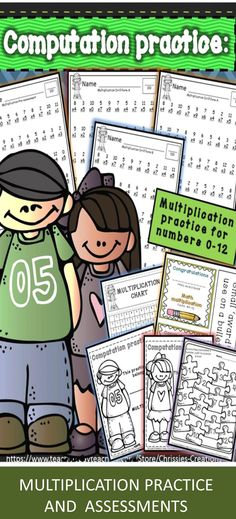 Great packets for Multiplication practice.  I simply make the packets and send them home for extra practice.  Parents can monitor their child's progress.