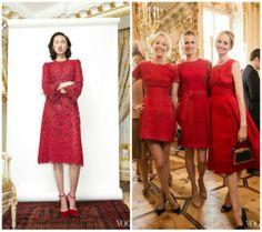 Vestidos de encaje rojo. Inspiración #Dolce&Gabana