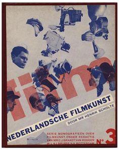 Piet Zwart [Designer] and C. J. Graadt Van Roggen et al. [Authors]: SERIE MONOGRAFIEEN OVER FILMKUNST. Rotterdam: W. L. en J. Brusse's Uitgeversmaatschappij N. V. , 1931 - 1933 [10 Volumes, all published].