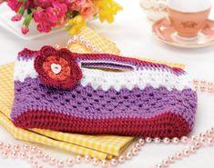 Gorgeous crochet clutch bag FREE pattern