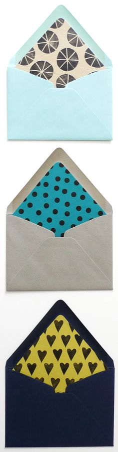 DIY Patterned Envelope Liners - Cotton & Flax