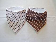 $9.99 Set of 2 Baby Toddler Child Bandana Dribble Bib Handmade Polka Dots More Colors LOOK