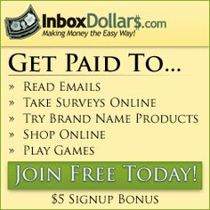 This is no joke!  So many ways to earn money with Inbox Dollars it's crazy!!! http://www.inboxdollars.com/?r=ref12763657