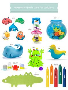 Awesome Bath Toys for Toddlers