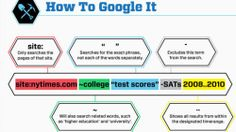 How to Google (I... didn't know all those things. Now I do.)