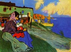 abstarct gypsy art  | Gypsy In Front Of Musca 1900 by Pablo Picasso
