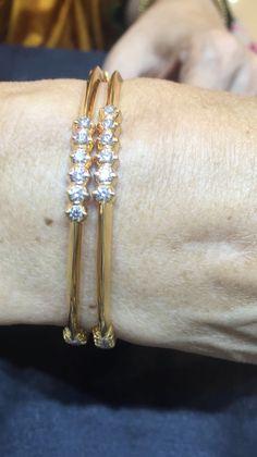 Solid Gold Bangle, Diamond Bangle, Diamond Jewelry, Gold Jewelry, Jewelery, Gold Bangles Design, Gold Earrings Designs, Bracelet Designs, Jewelry Design
