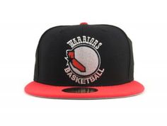 San Francisco Warriors New Era 5950 Fitted Hat (BLACK LAVA RED)