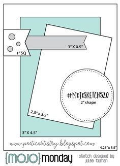 Mojo Monday 520 Card Sketch by Julee Tilman. - Sketch Templates - Ideas of Sketch Templates - Mojo Monday 520 Card Sketch by Julee Tilman. Card Sketches, Scrapbook Sketches, Scrapbook Cards, Scrapbook Layouts, Card Kit, I Card, Sunday Sketches, Card Making Templates, Owl Templates