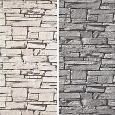 Papier Peint Vinyle Luxe Grandeco Dax Effet Mur Pierre Ardoise Brique